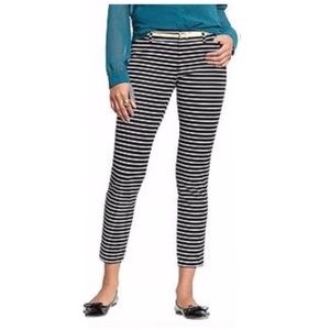 Old Navy Black White Horizontal Stripe Pixie Chino